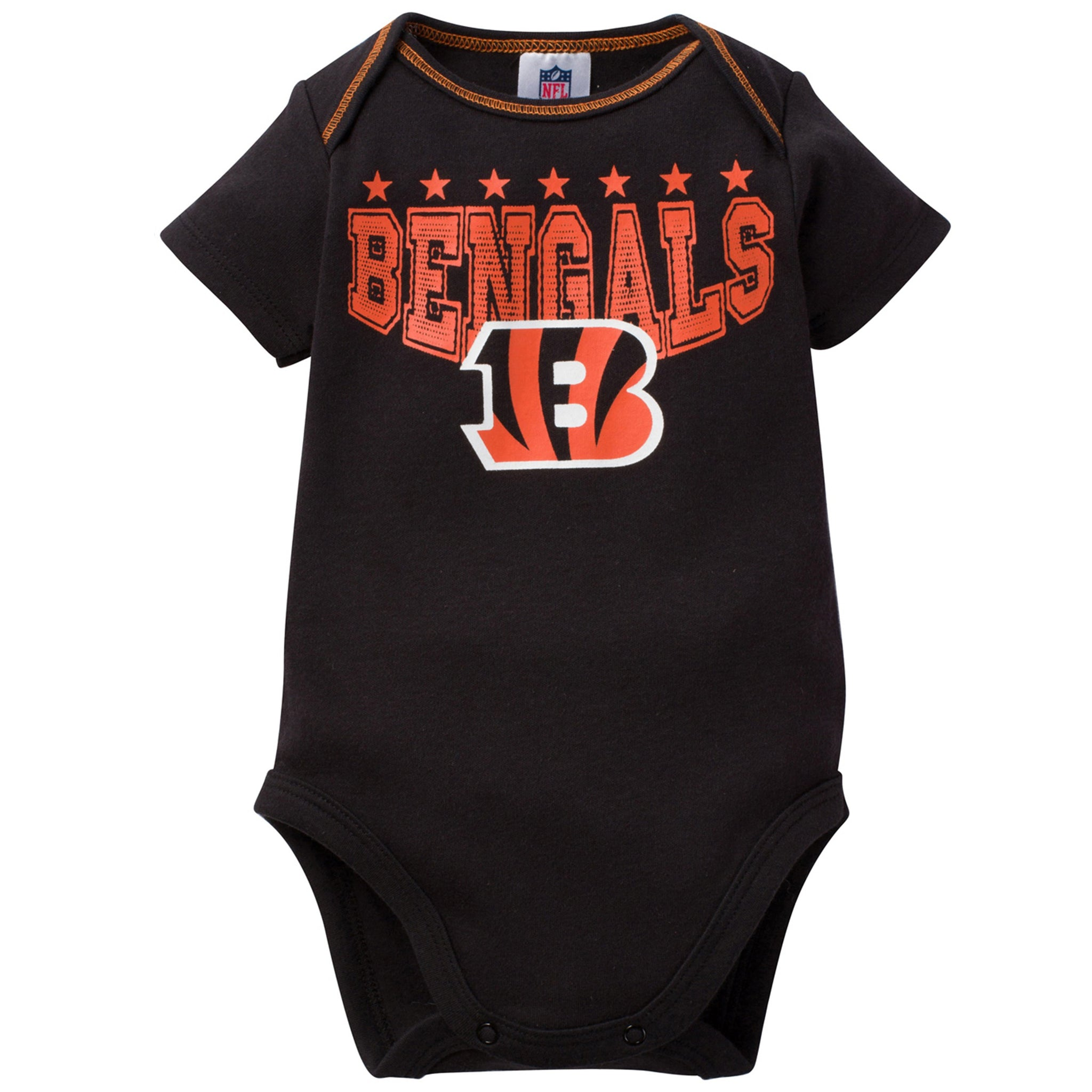 Cincinnati Bengals Baby Boy 3-Pack Short Sleeve Bodysuits