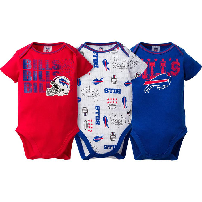 online retailer 53462 36c11 Buffalo Bills Baby Boy 3-Pack Short Sleeve Bodysuits