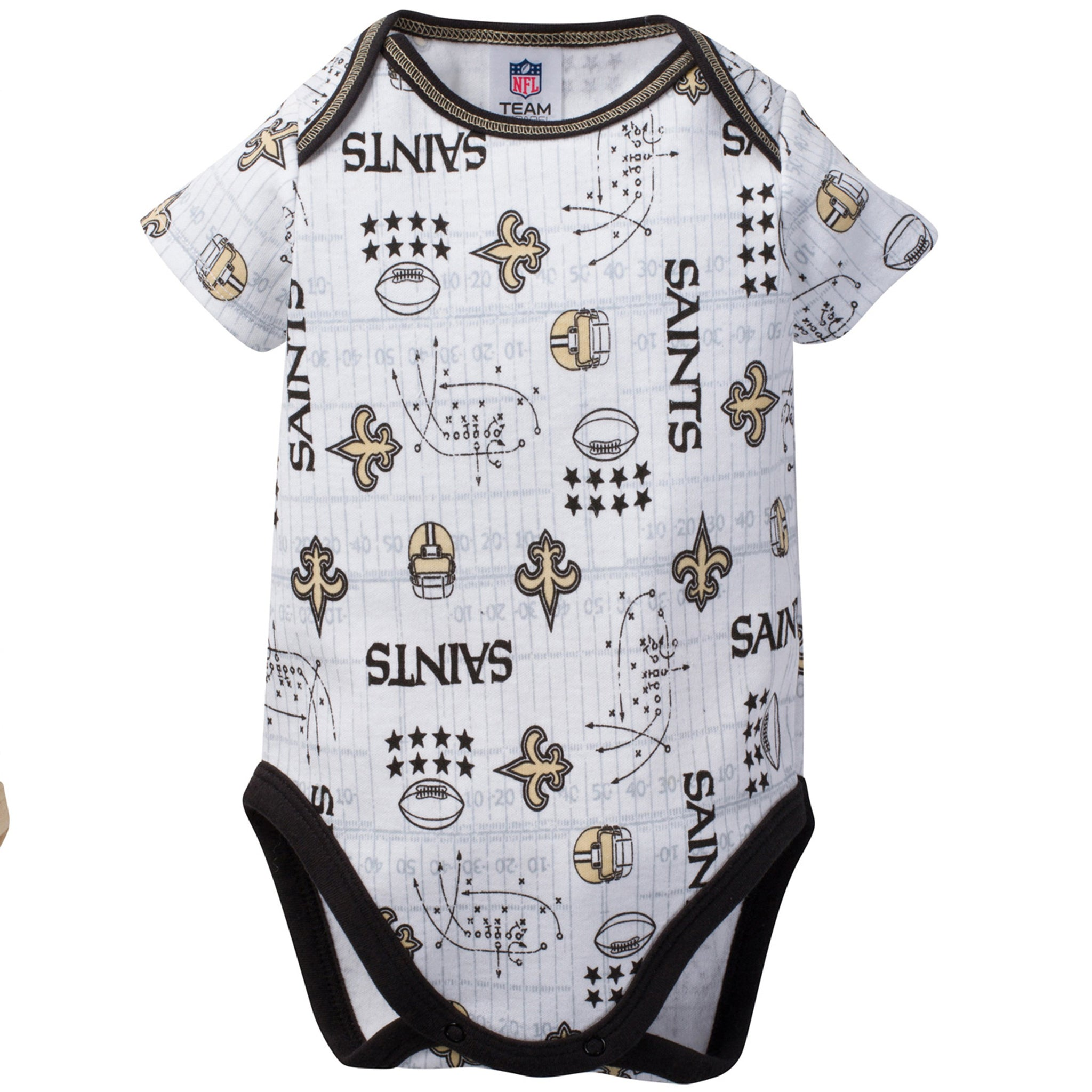 New Orleans Saints 3-Pack Infant Short Sleeve Bodysuits