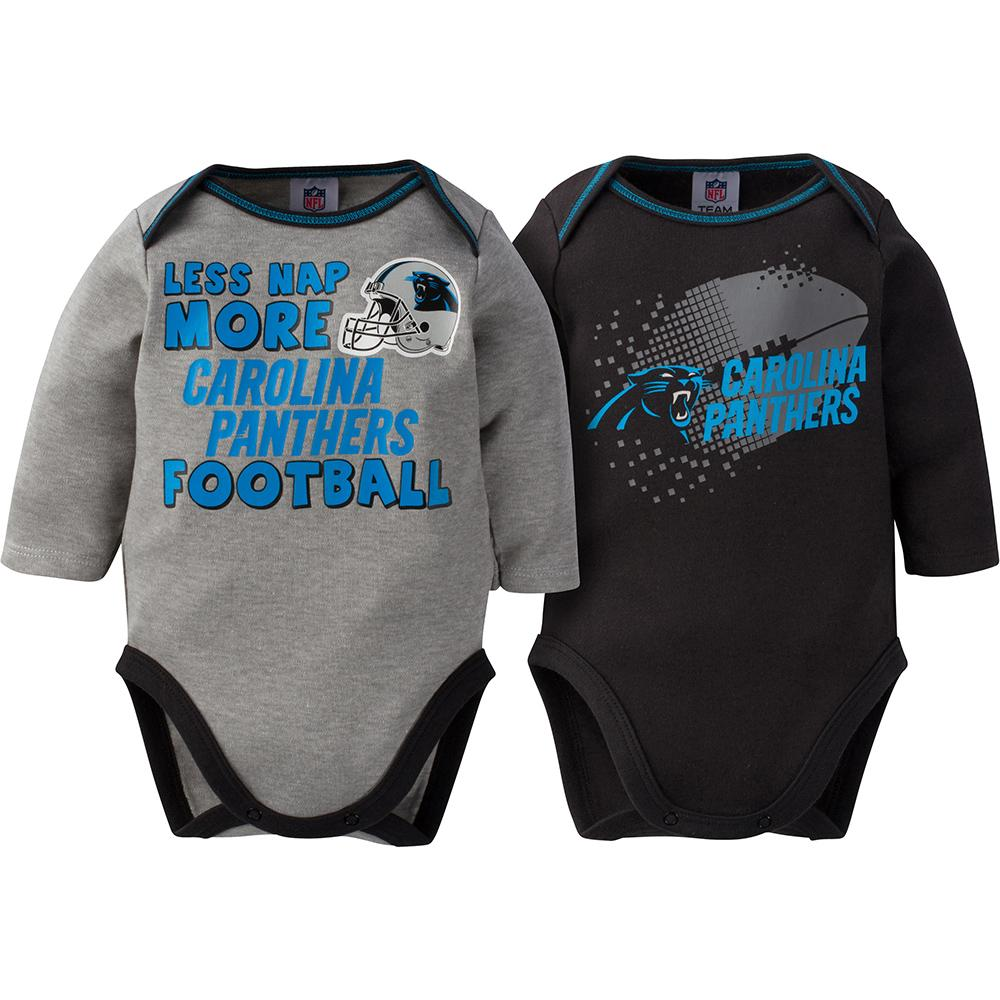 Panthers Baby Boy 2-Pack Long Sleeve Bodysuit