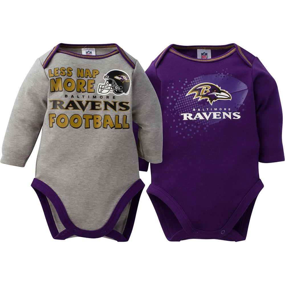 Ravens Baby Boy 2-Pack Long Sleeve Bodysuit