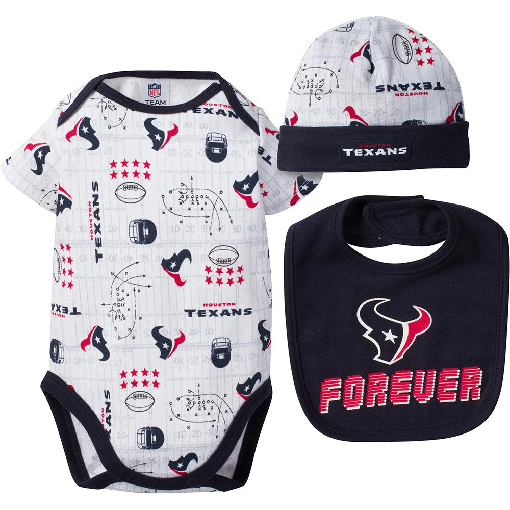 Texans Baby Boy Bodysuit, Cap and Bib Set-Gerber Childrenswear