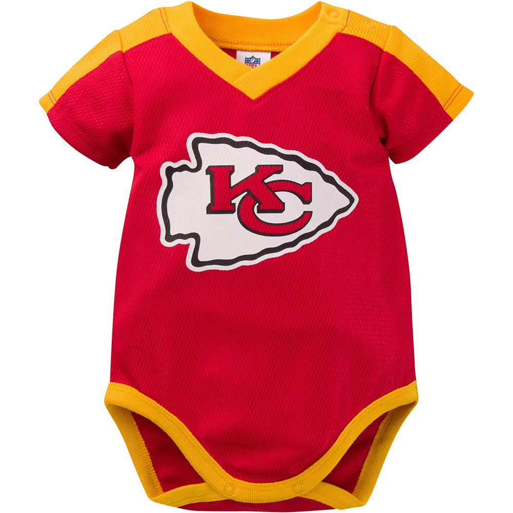 Kansas City Chiefs Baby Boy Jersey Bodysuit-Gerber Childrenswear
