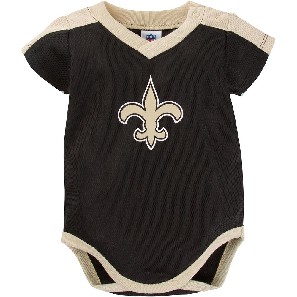 New Orleans Saints Baby Boy Jersey Bodysuit-Gerber Childrenswear