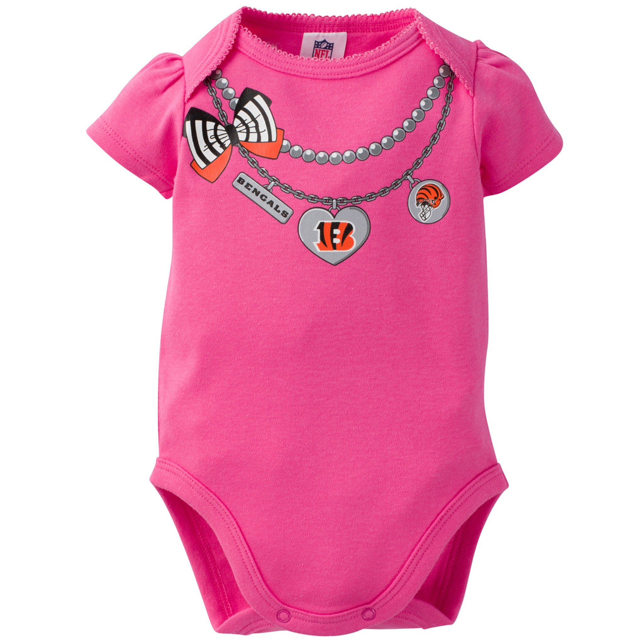 Cincinnati Bengals 3-Pack Infant Girl Short Sleeve Bodysuits-Gerber Childrenswear