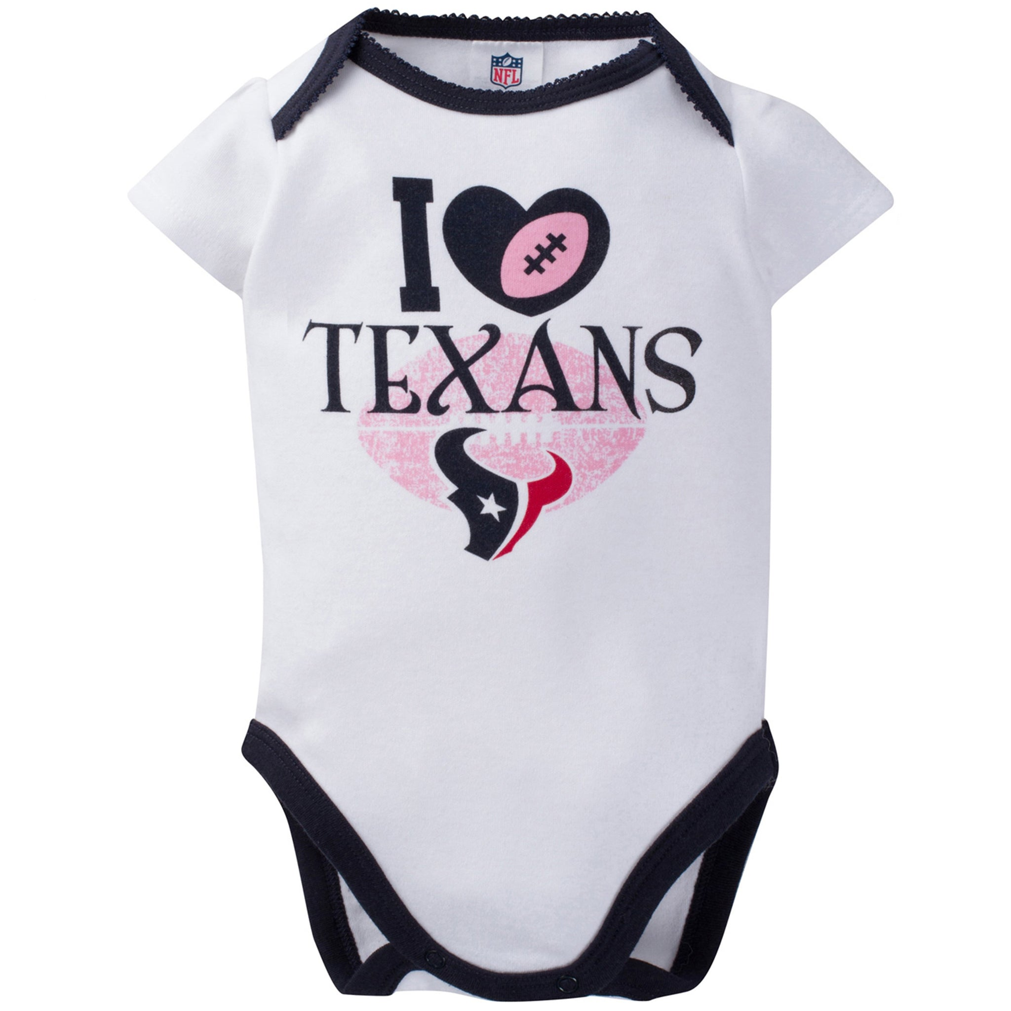 Houston Texans 3-Pack Infant Girl Short Sleeve Bodysuits-Gerber Childrenswear