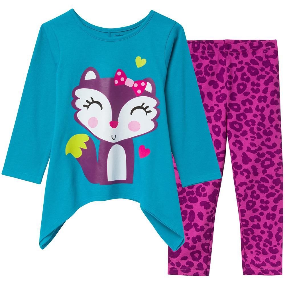 2-Piece Girls 2-piece Top and Pants Set