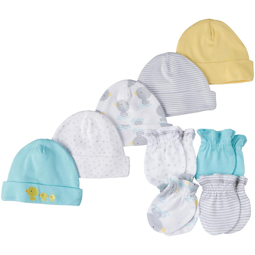 9-Piece Neutral Ducks Caps & Mittens Accessories Set