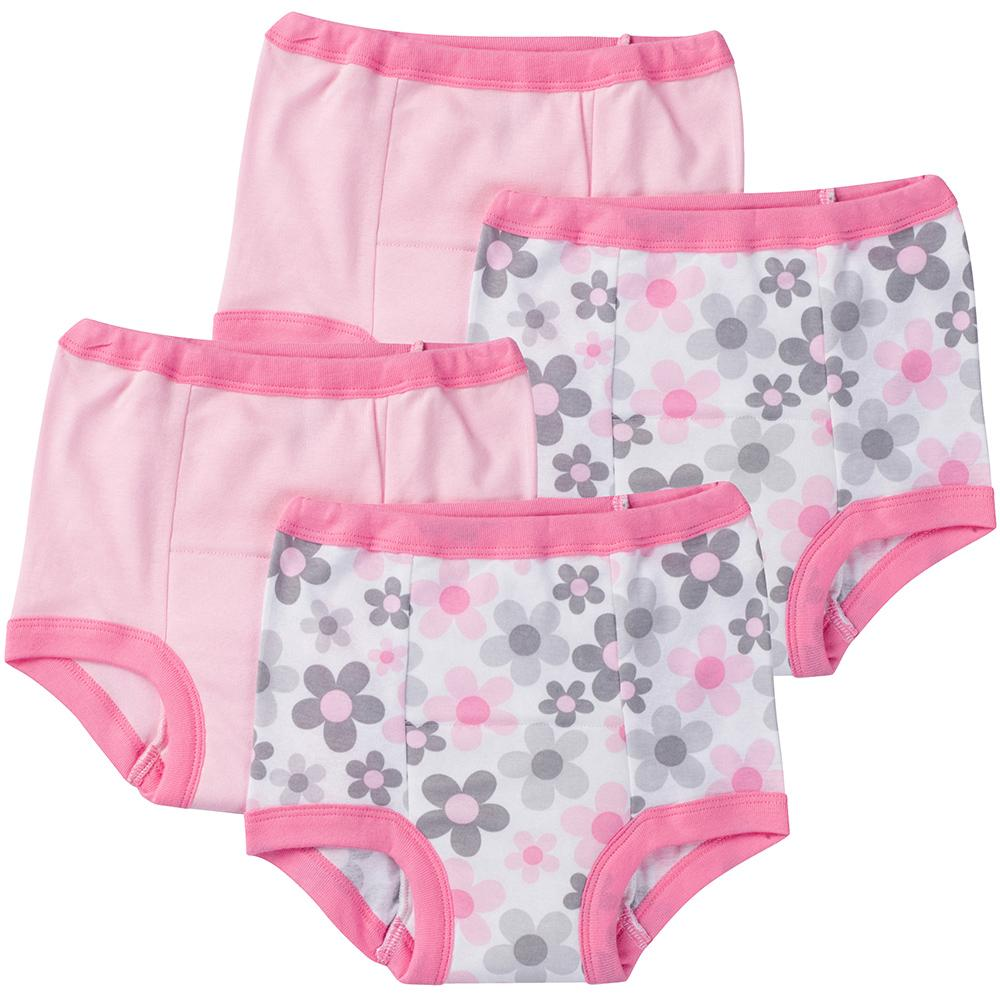 4-Pack Girls Flower Training Pant