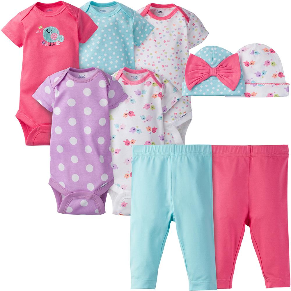 9-Piece Girls Little Bird Gift Set-Gerber Childrenswear
