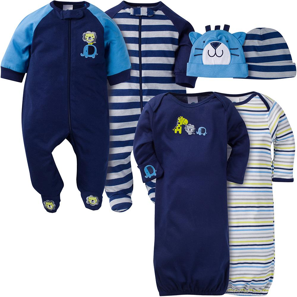 6-Piece Boys Jungle Sleepwear Set-Gerber Childrenswear