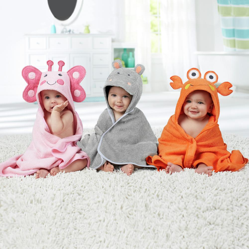 Just Born Love to Bathe Woven Butterfly Hooded Towel