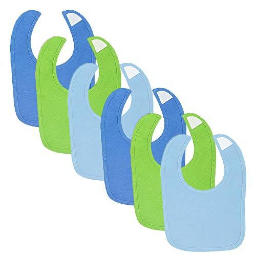 Gerber® 6-Pack Boys Solid Blue & Green Dribbler Bibs