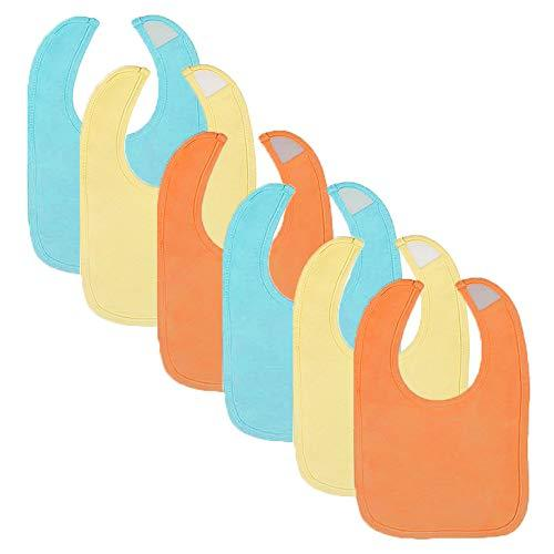 6-Pack Neutral Solid Colors Dribbler Bibs
