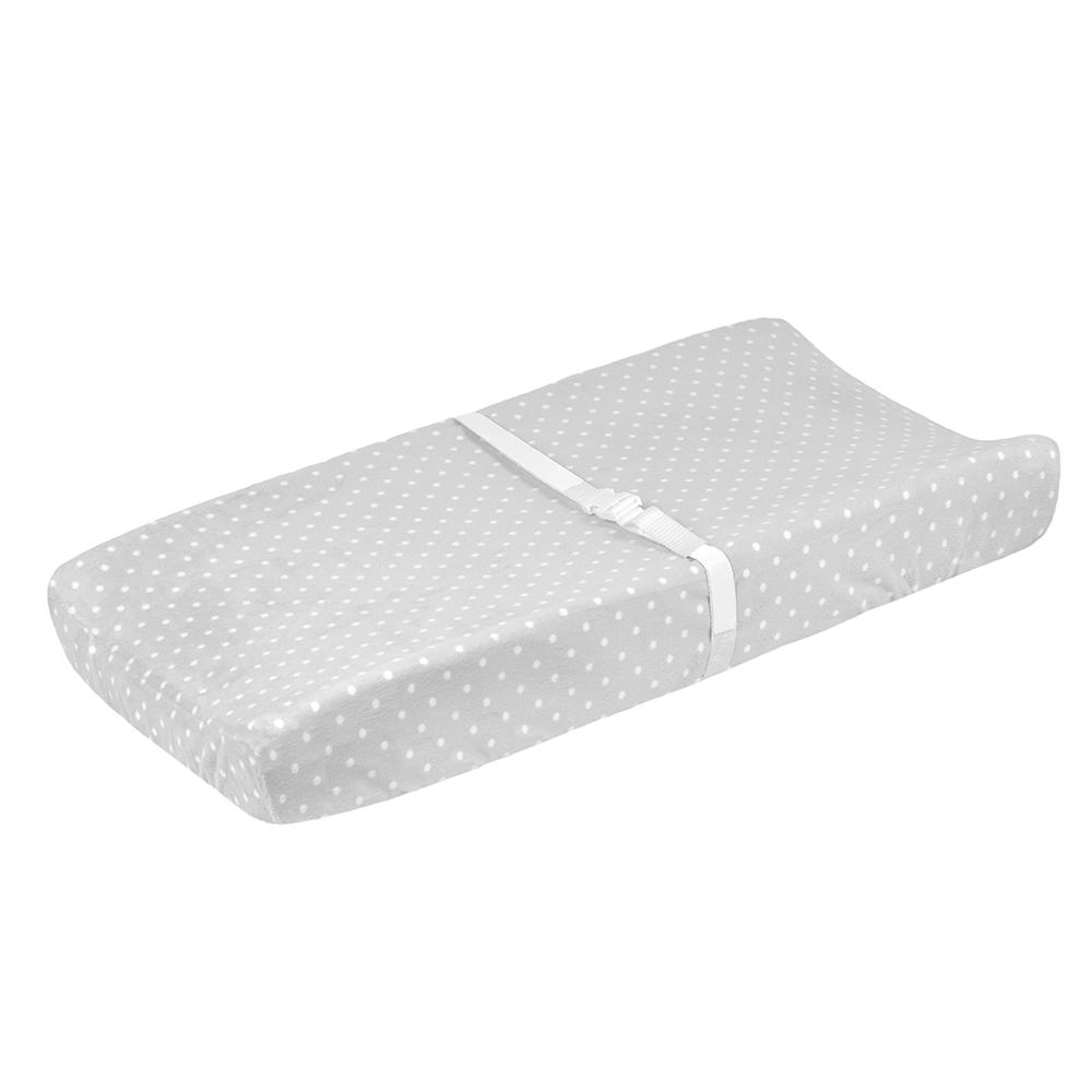 1-Pack Neutral Grey Dot Changing Pad Cover