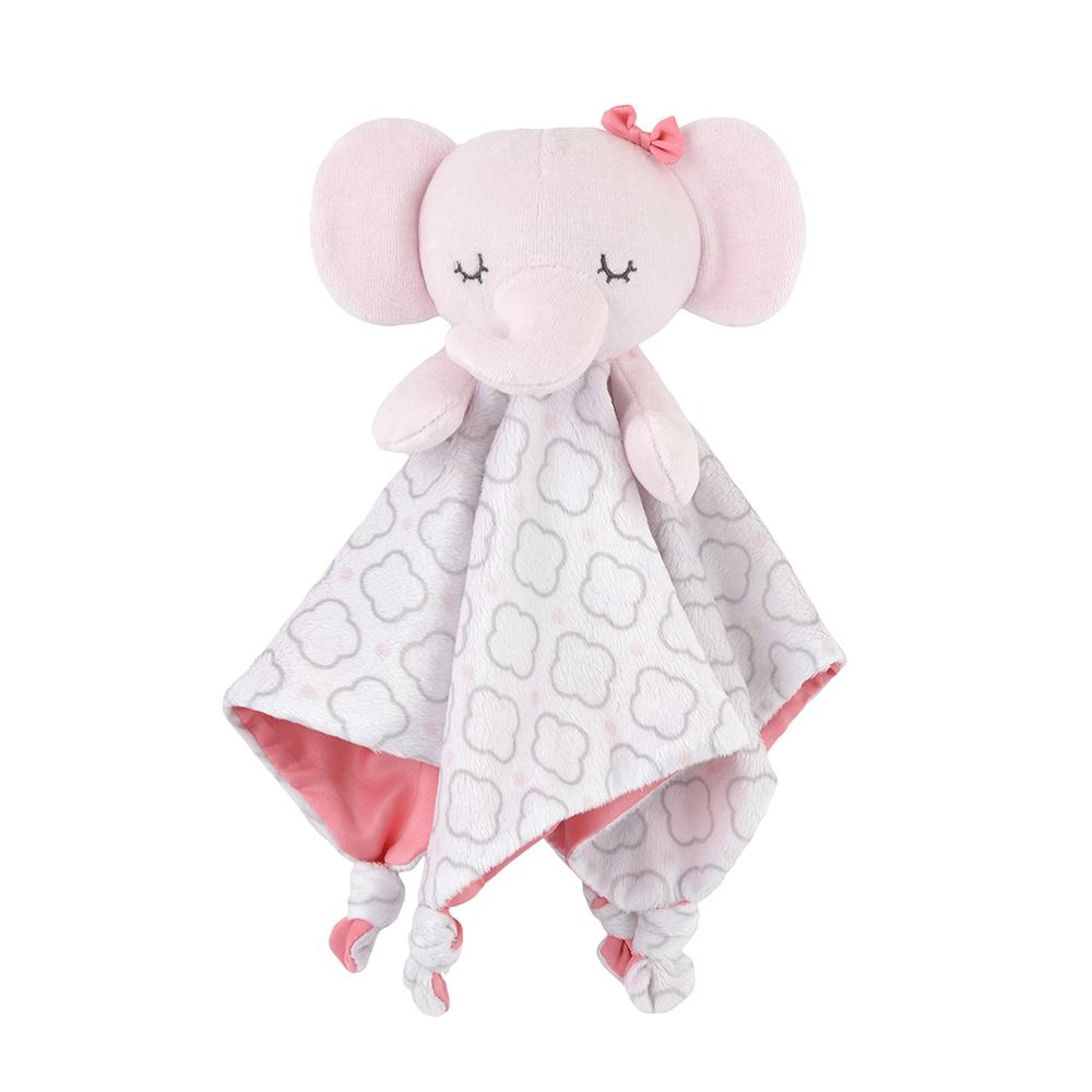 1-Pack Girls Pink Elephant Security Blanket