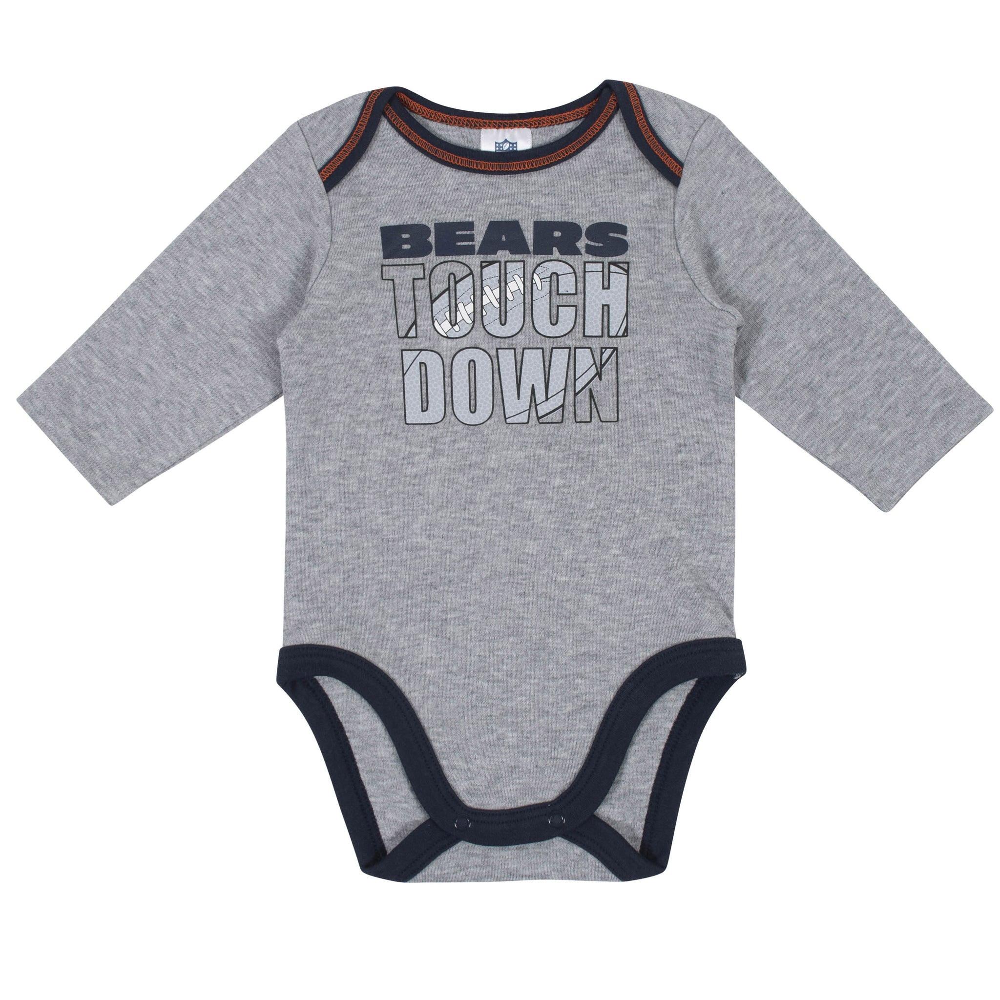 Baby Boys Chicago Bears Long Sleeve Bodysuit, 2-pack -Gerber Childrenswear