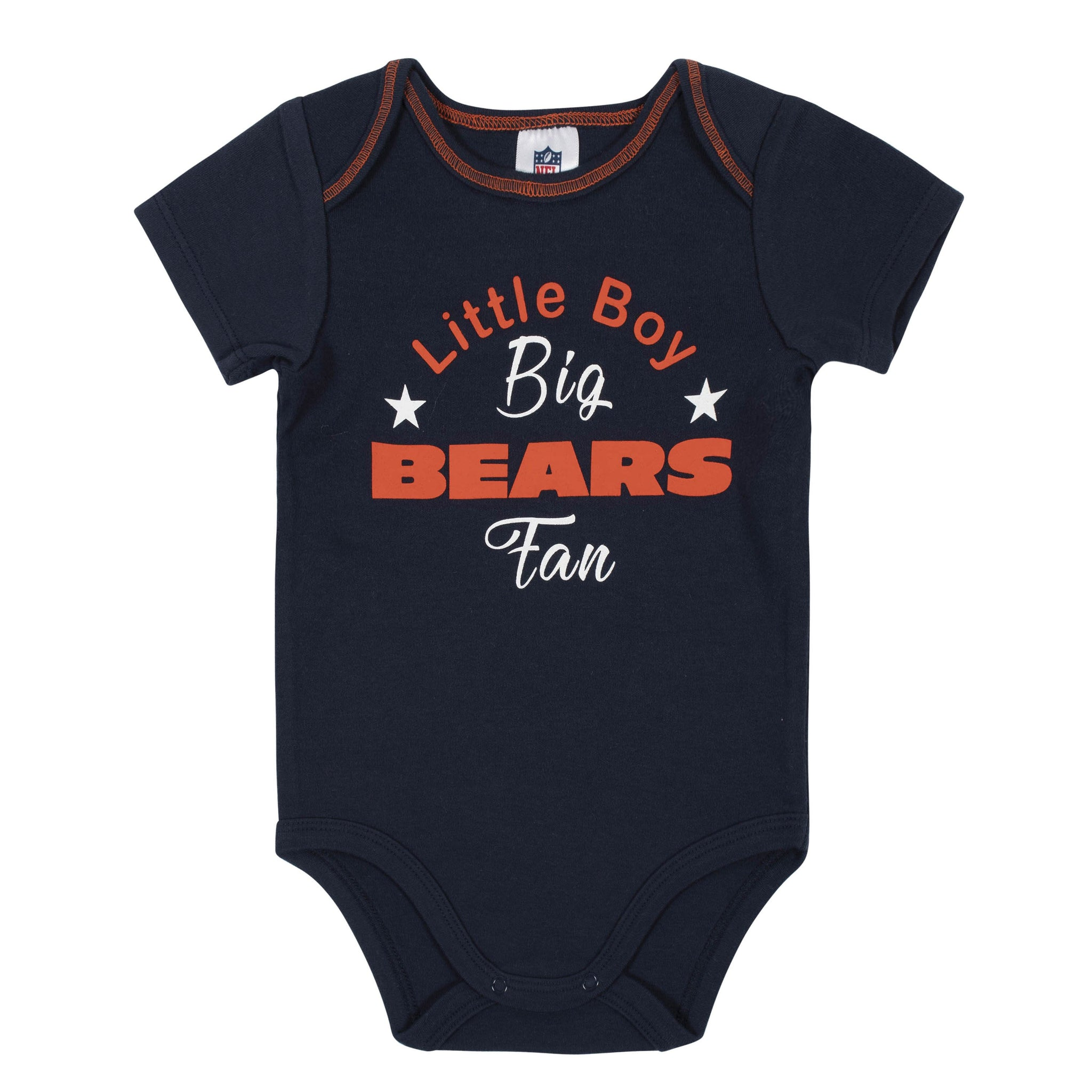 Baby Boys 3-Piece Chicago Bears Bodysuit, Gown, and Cap Set