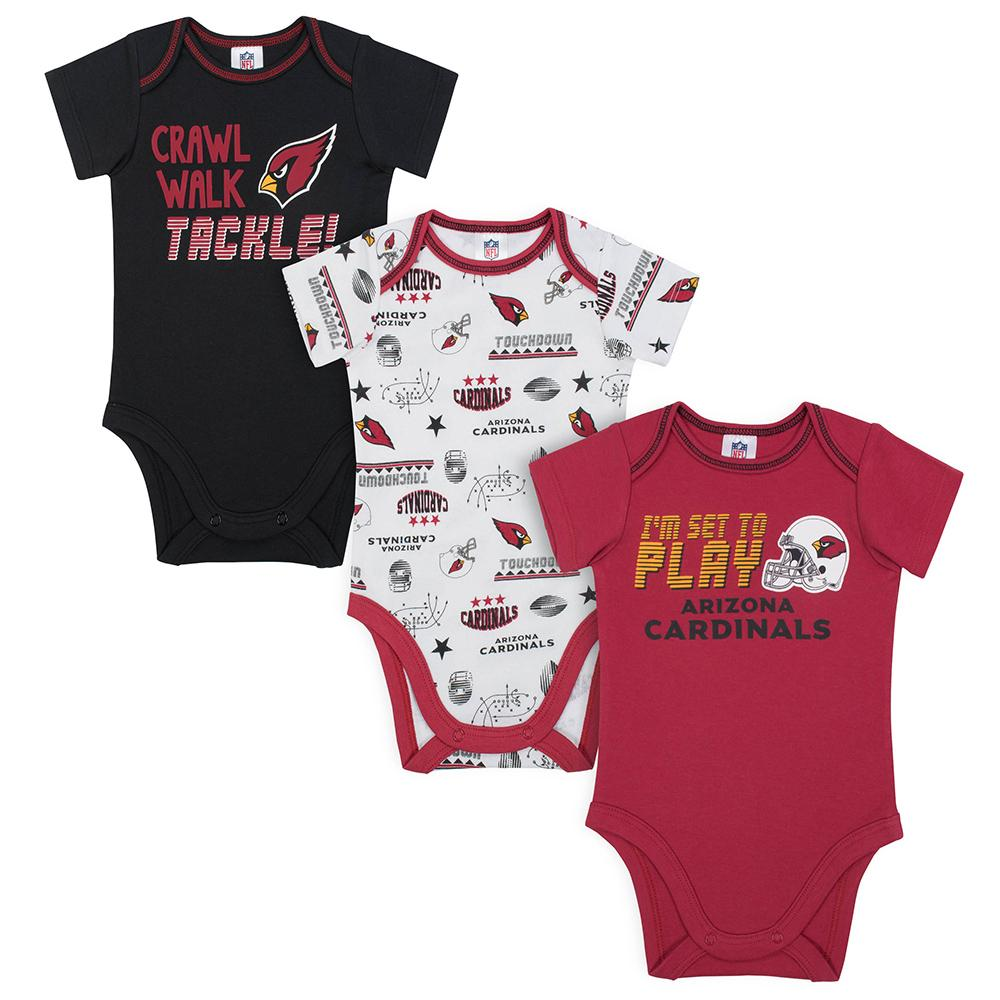 Cardinals Baby Boys 3-Pack Short Sleeve Bodysuit-Gerber Childrenswear