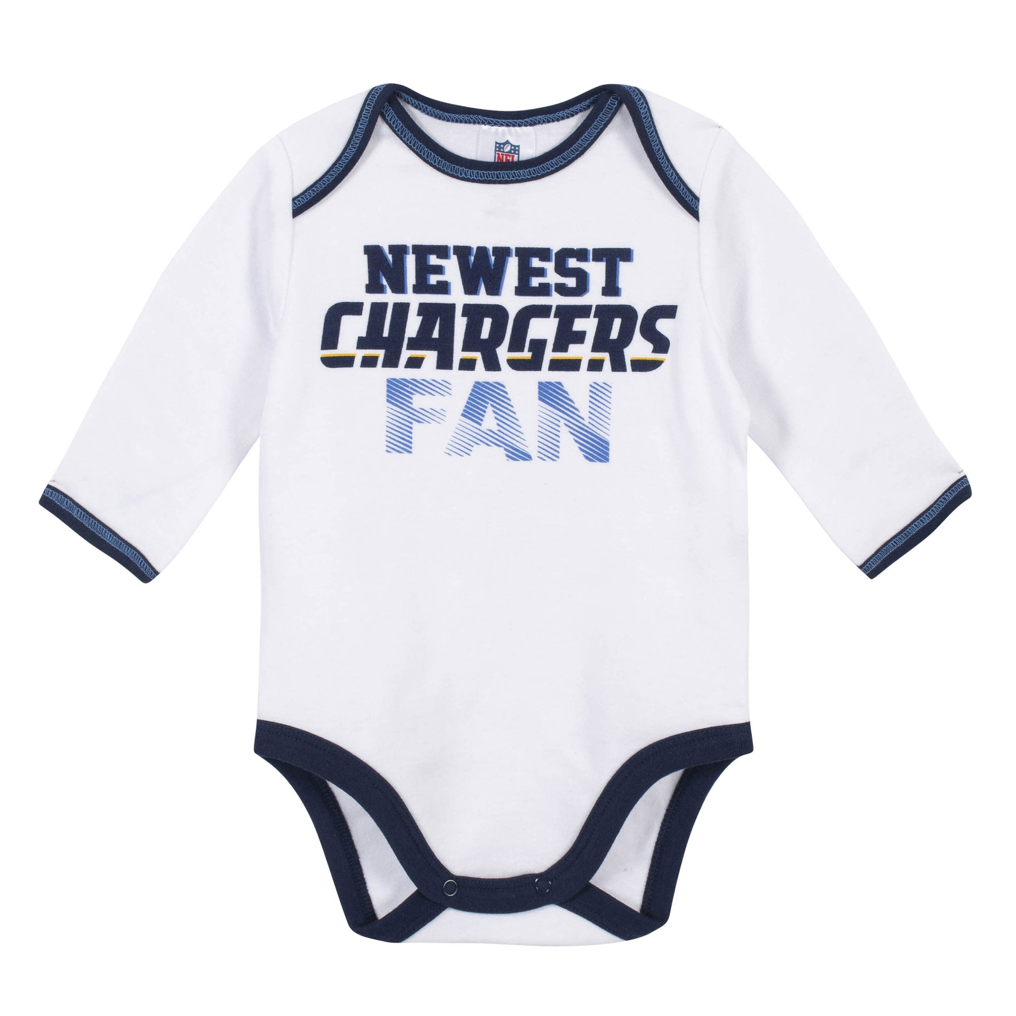 Baby Boys Los Angeles Chargers 3-Piece Bodysuit, Pant and Cap Set