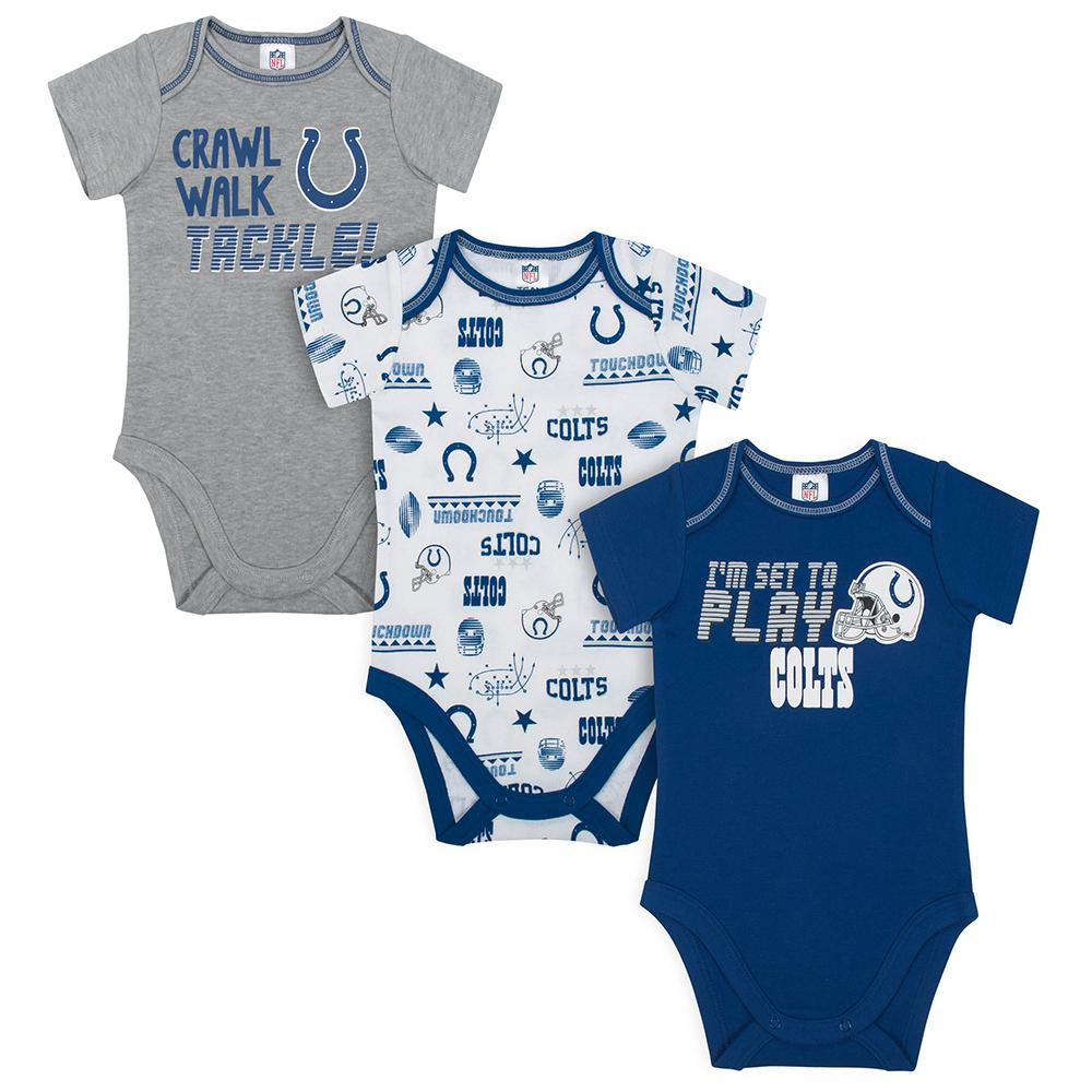 Colts Baby Boys 3-Pack Short Sleeve Bodysuit-Gerber Childrenswear