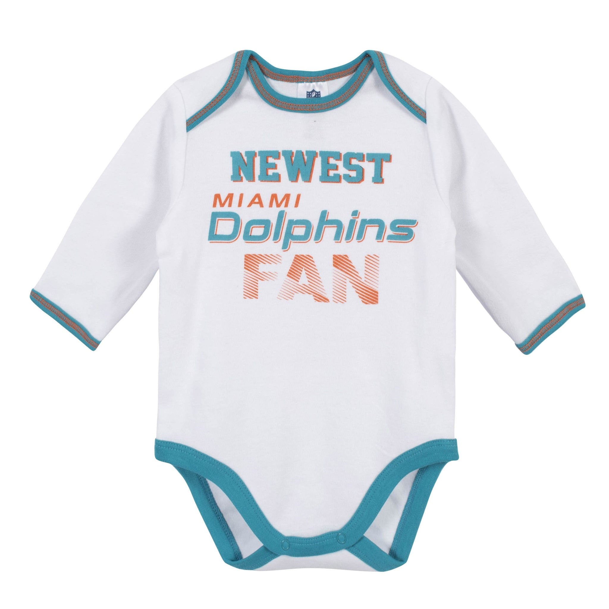Baby Boys Miami Dolphins 3-Piece Bodysuit, Pant and Cap Set