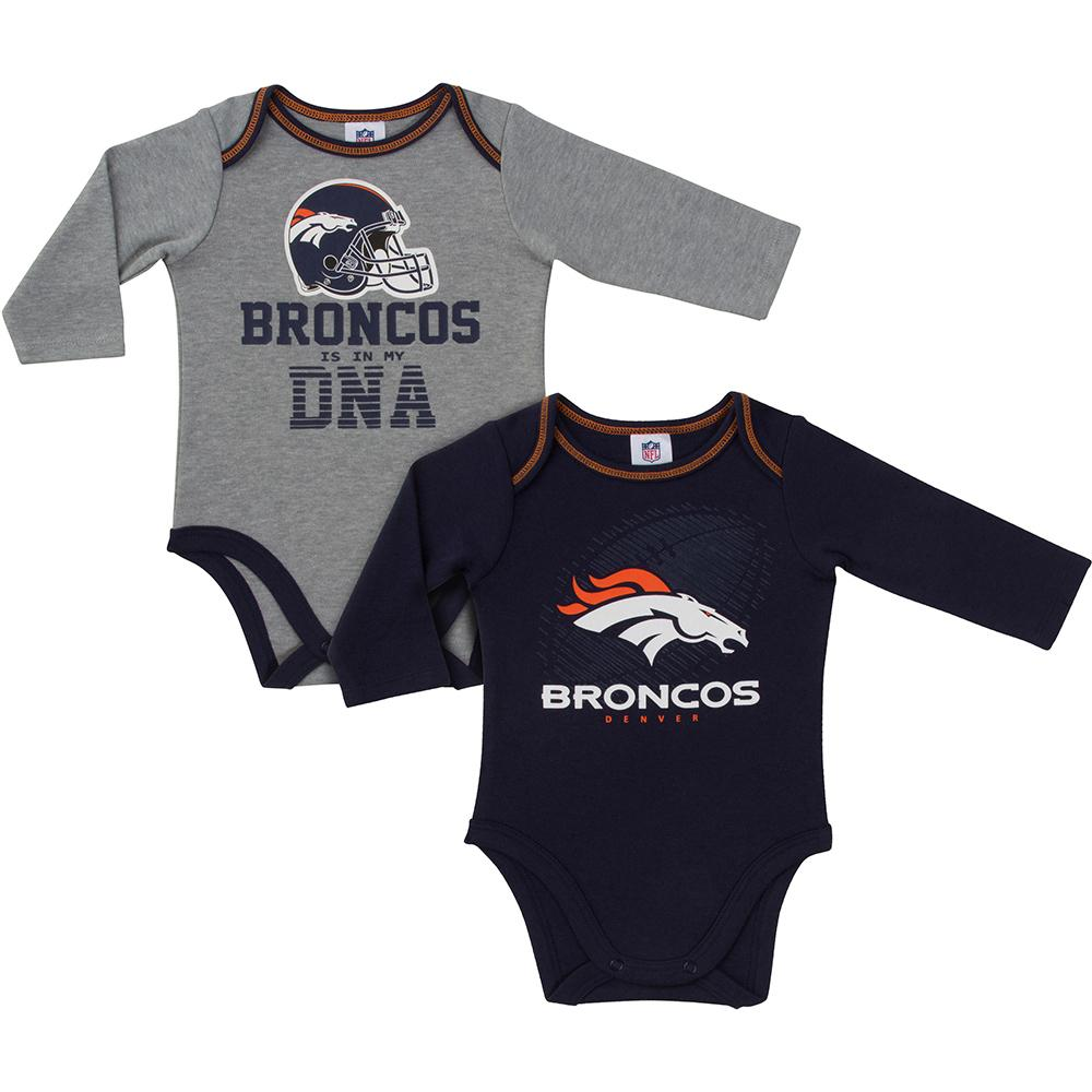 Broncos Baby Boys 2-Pack Long Sleeve Bodysuit-Gerber Childrenswear