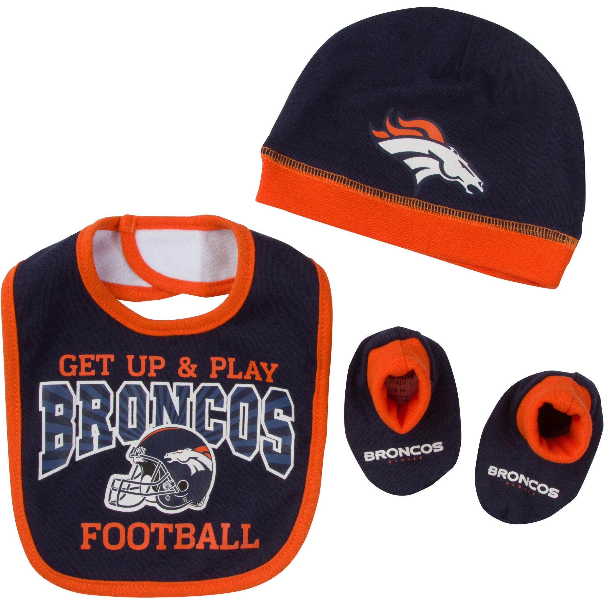 Denver Broncos Baby Boy Accessories, 3pc Set-Gerber Childrenswear