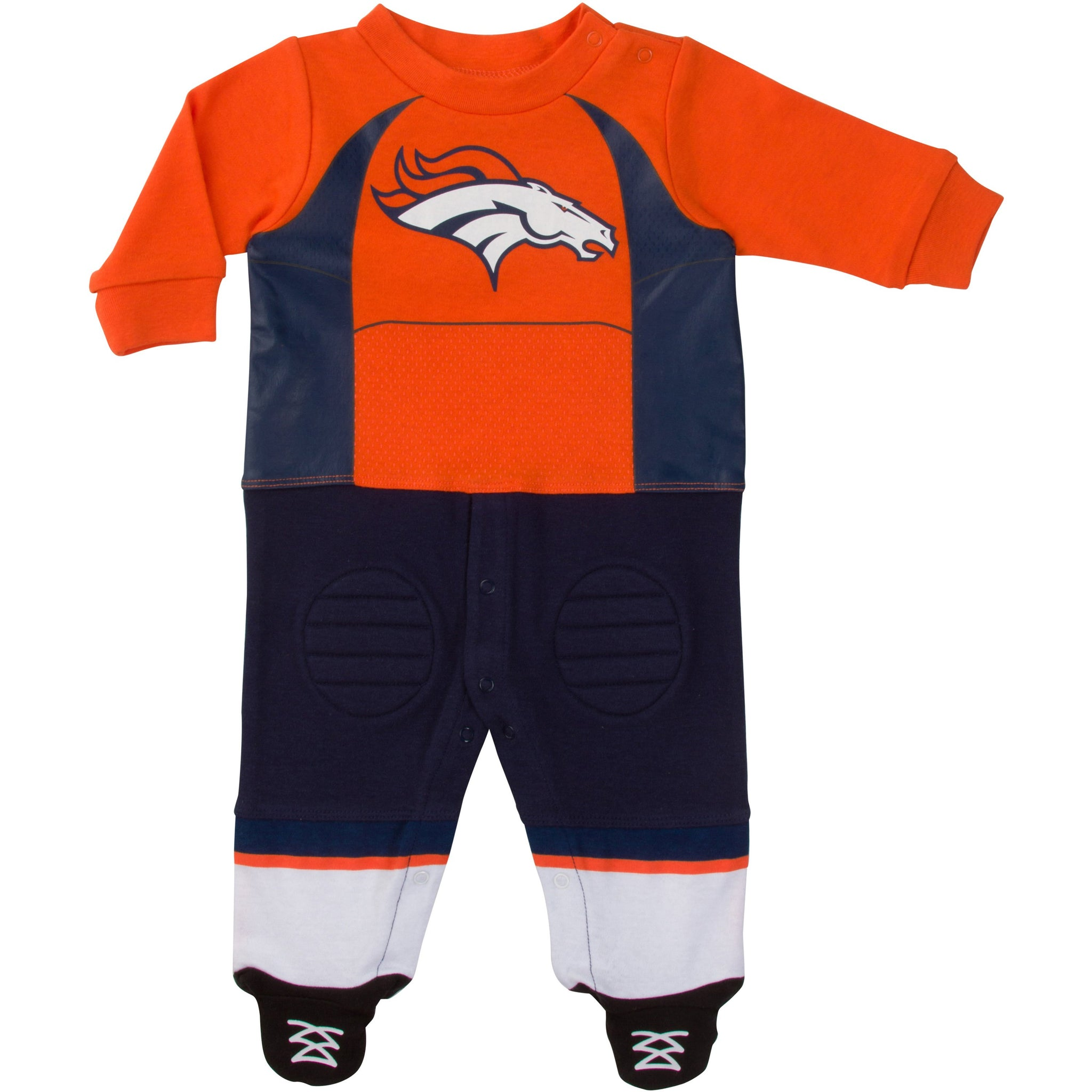 Denver Broncos Baby Boys Footed Footysuit-Gerber Childrenswear