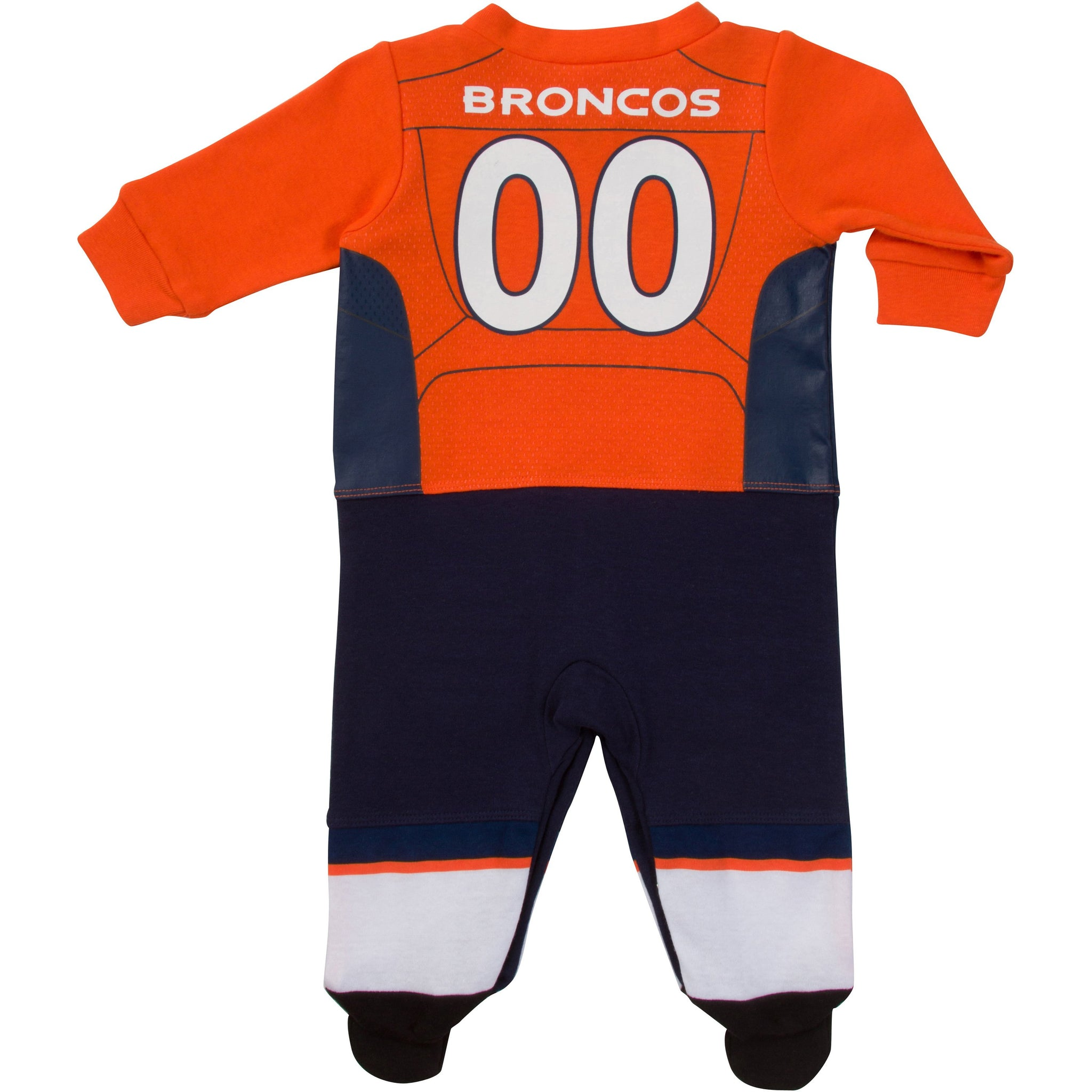 Denver Broncos Baby Boys Footed Footysuit