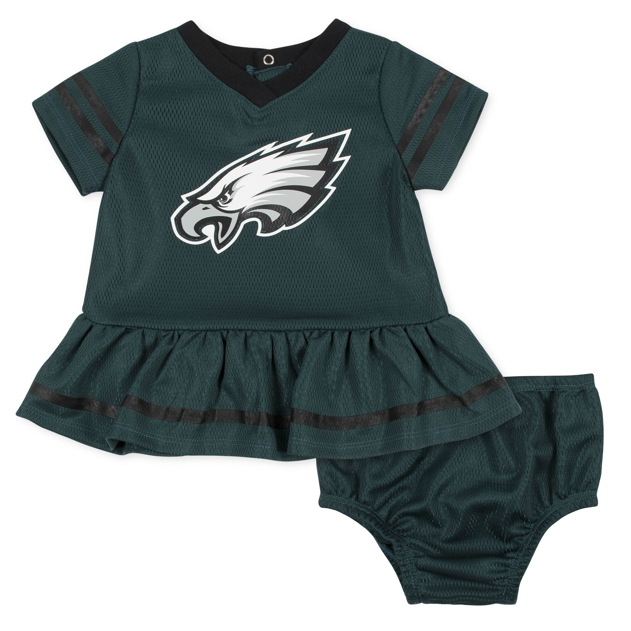 Baby Girls Philadelphia Eagles Cheerleader Dress and Panty Set-Gerber Childrenswear