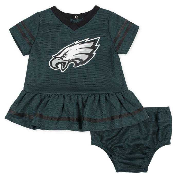 low priced a7ed6 01f1f Baby Girls Philadelphia Eagles Cheerleader Dress and Panty Set