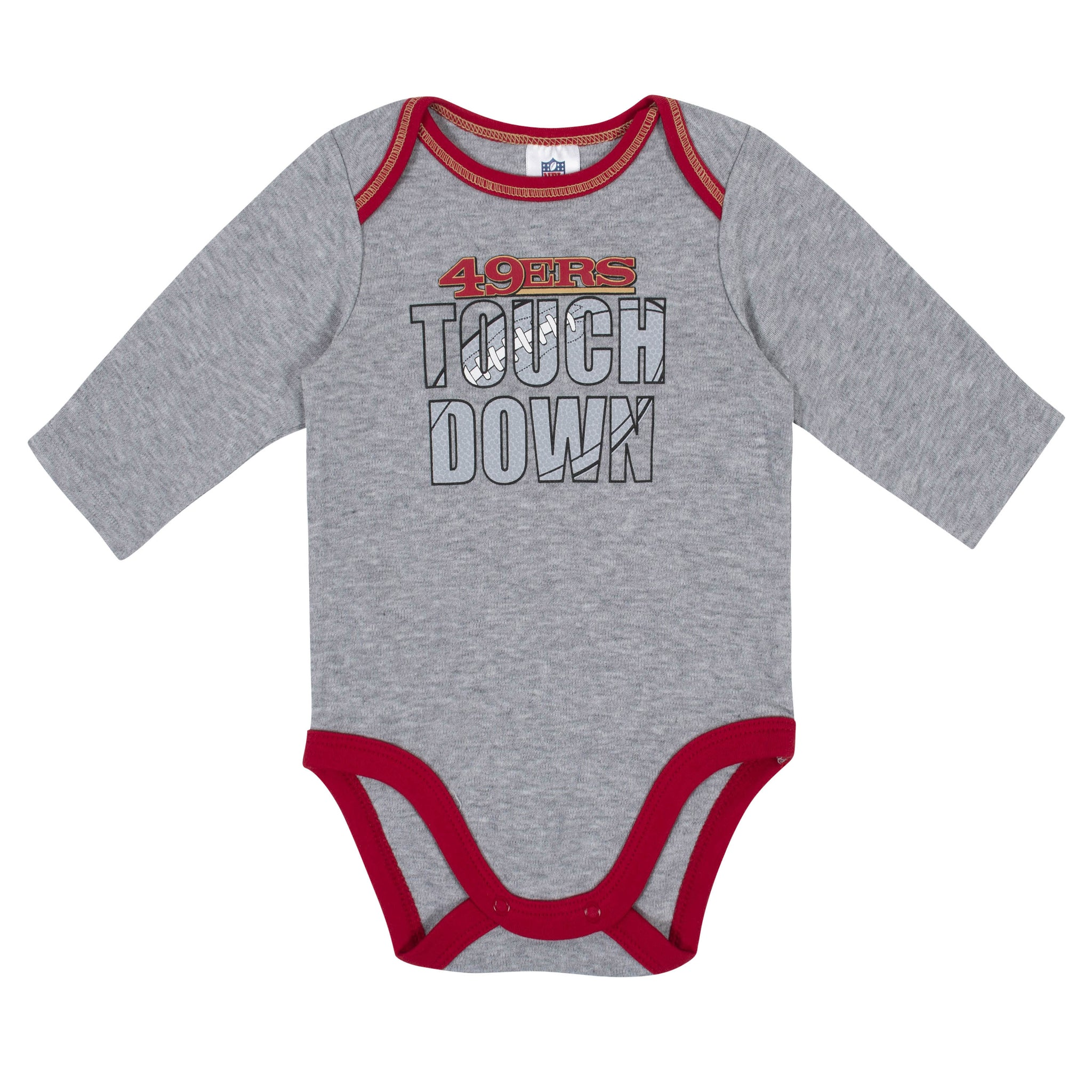 Baby Boys San Francisco 49ers Long Sleeve Bodysuit, 2-pack