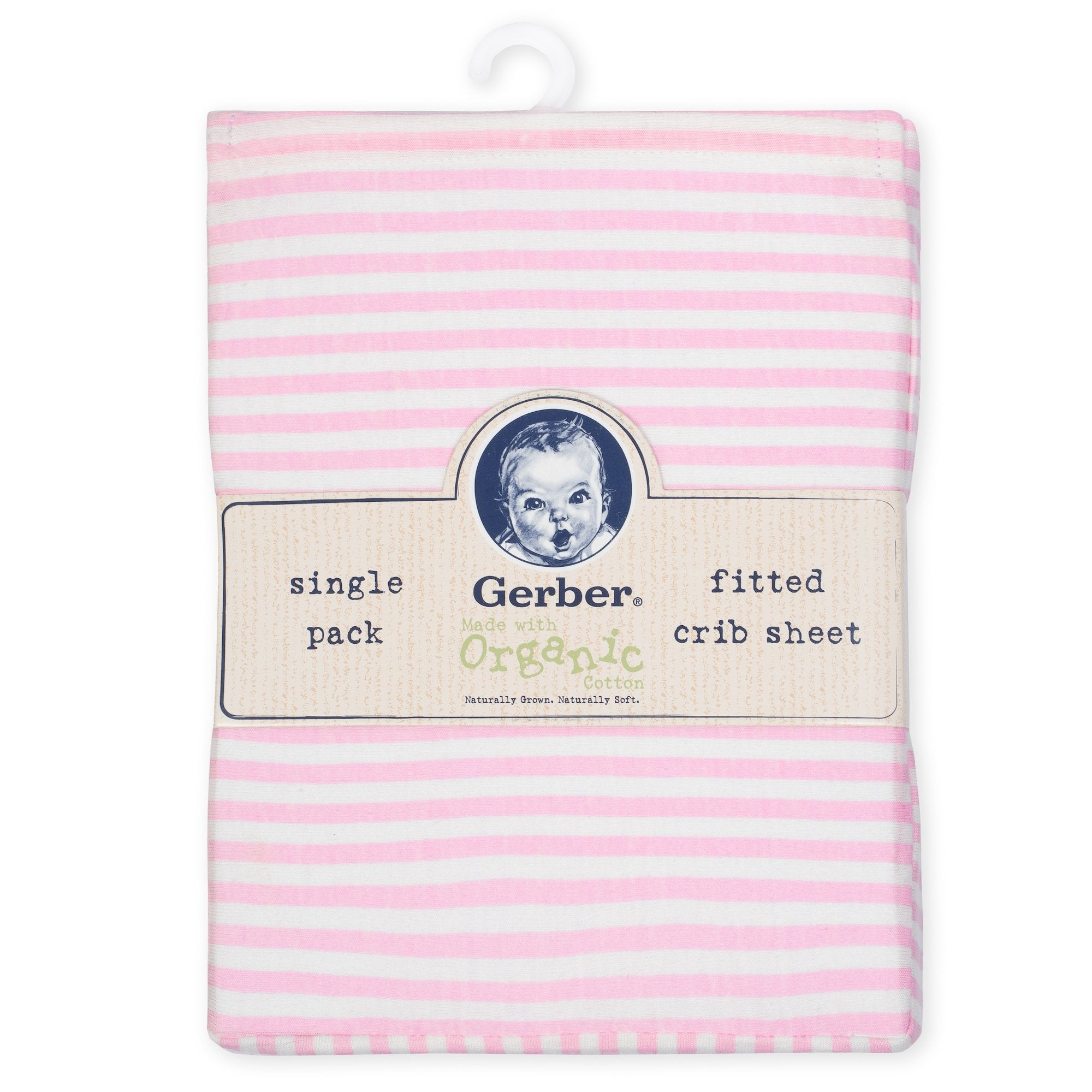 1-Pack Girls Pink Organic Fitted Crib Sheet