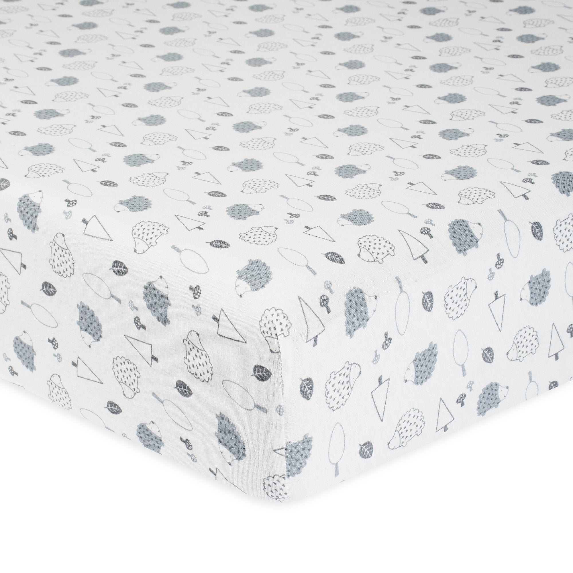 1-Pack Neutral Hedgehog Organic Fitted Crib Sheet