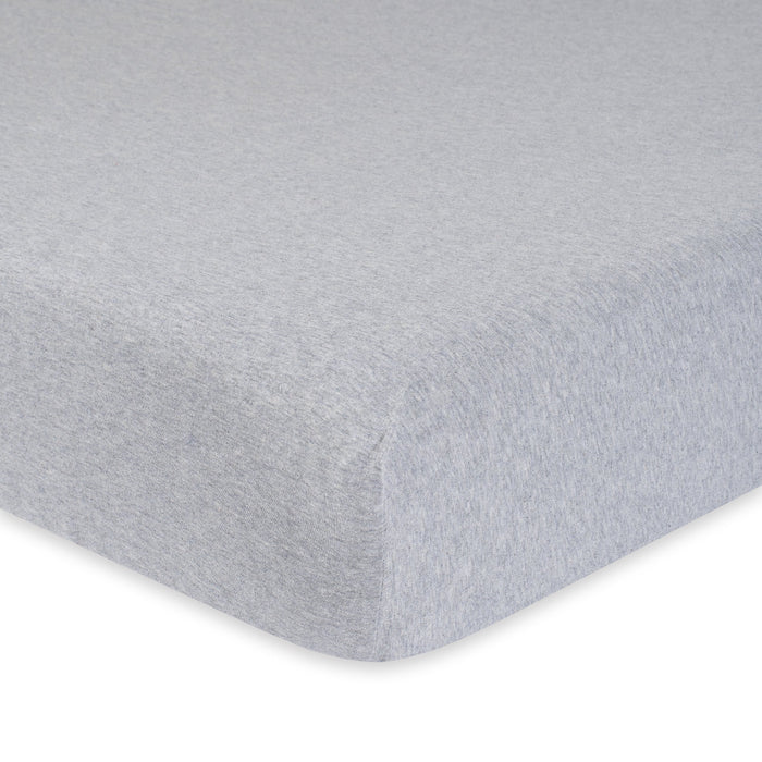 1 Pack Neutral Solid Grey Organic Fitted Crib Sheet Gerber