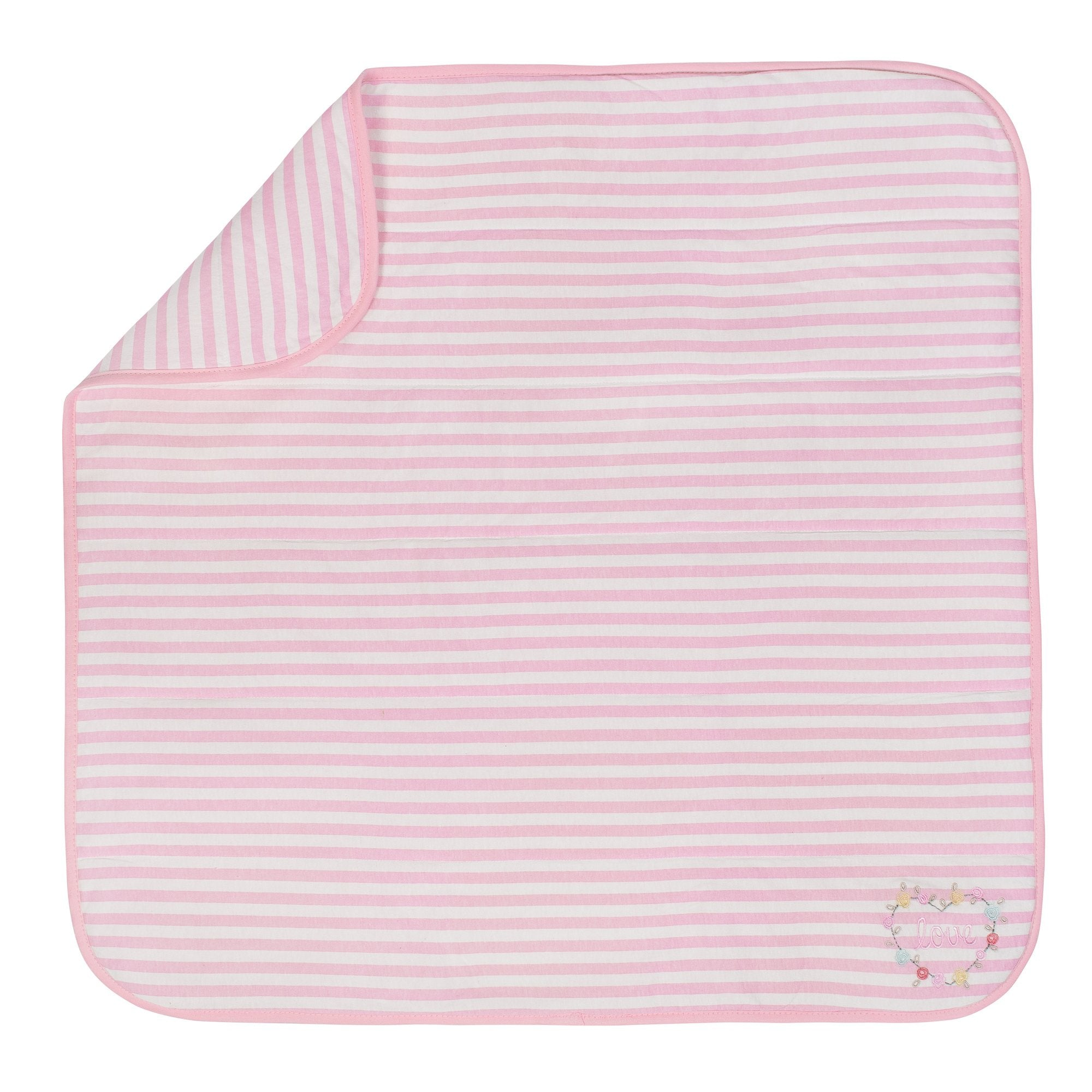 1-Pack Girls Pink Organic 2 Ply Blanket