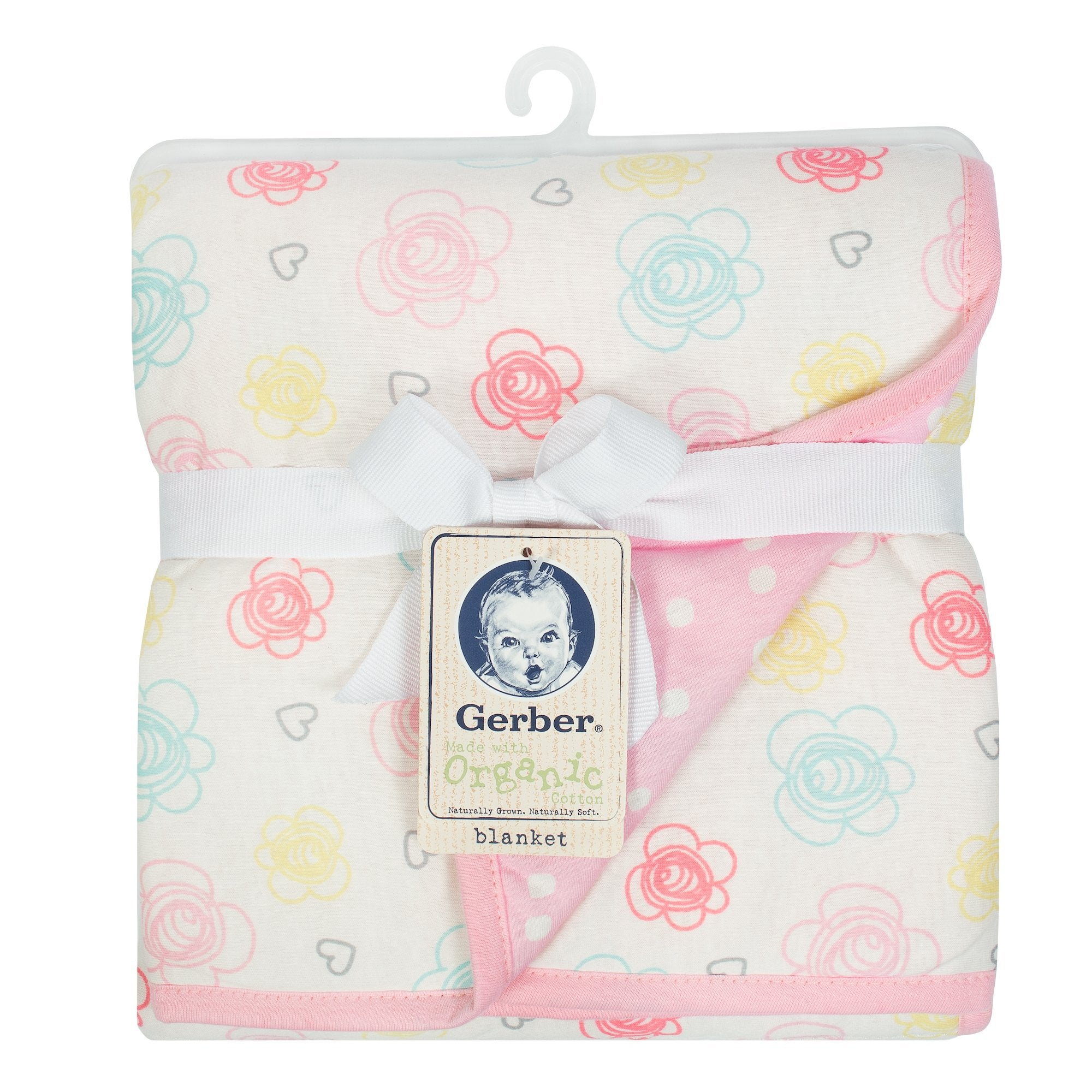 1-Pack Girls Floral Organic 2 Ply Blanket