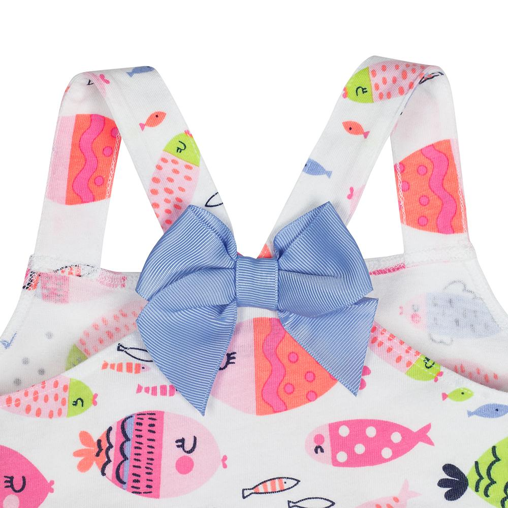 1-Pack Girls Fish Themed Tunic with Bow Back