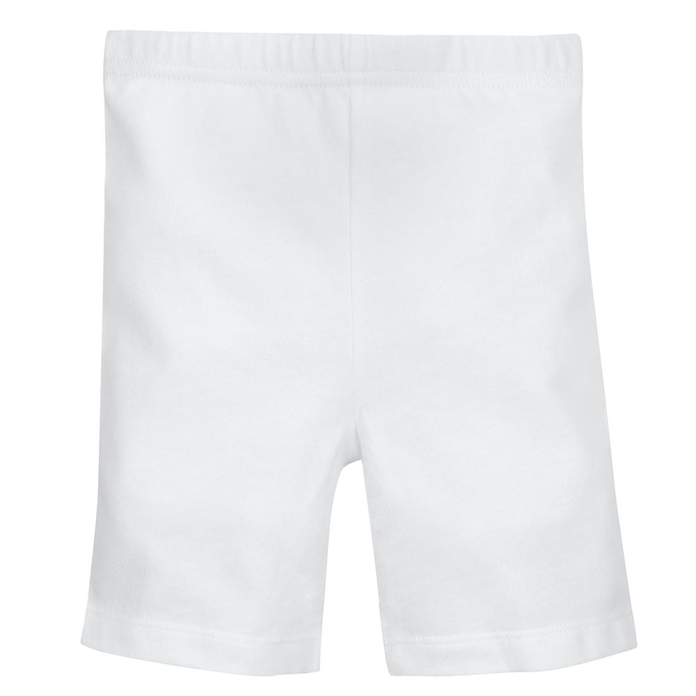 1-Pack Girls White Biker Shorts