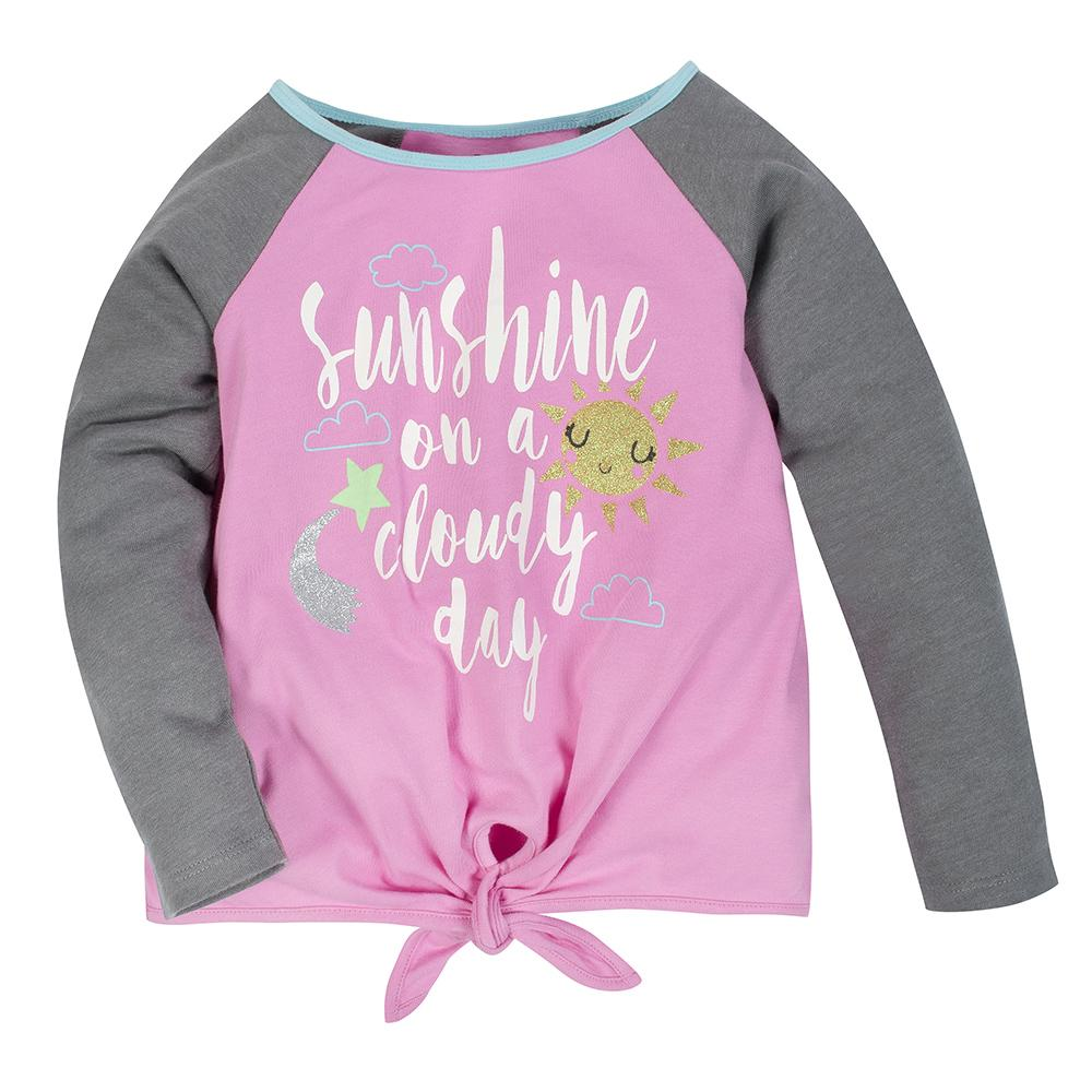 2-Pack Girls Sunshine & Rainbow Long Sleeve Tops