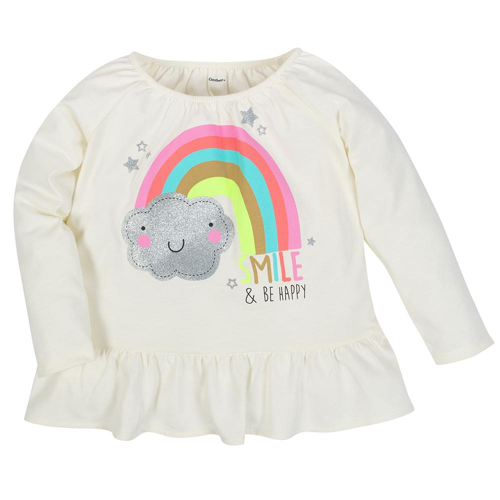 1-Pack Girls Rainbow Long Sleeve Top
