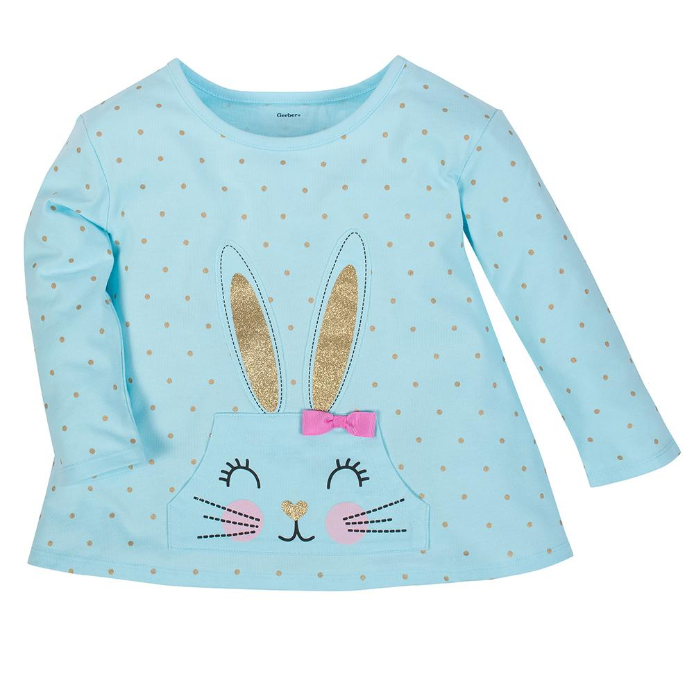 1-Pack Girls Bunny Long Sleeve Top