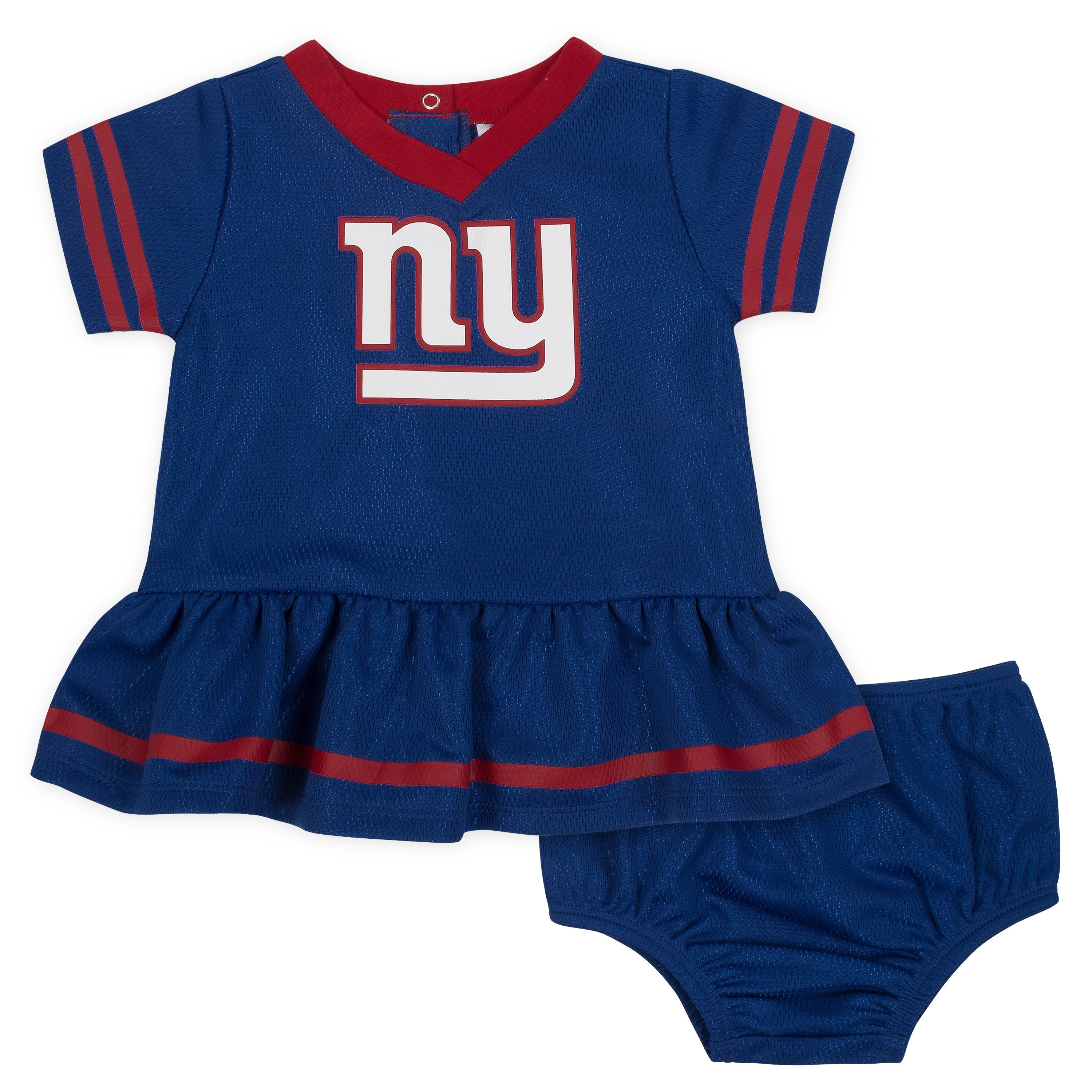 Baby Girls New York Giants Cheerleader Dress And Panty Set