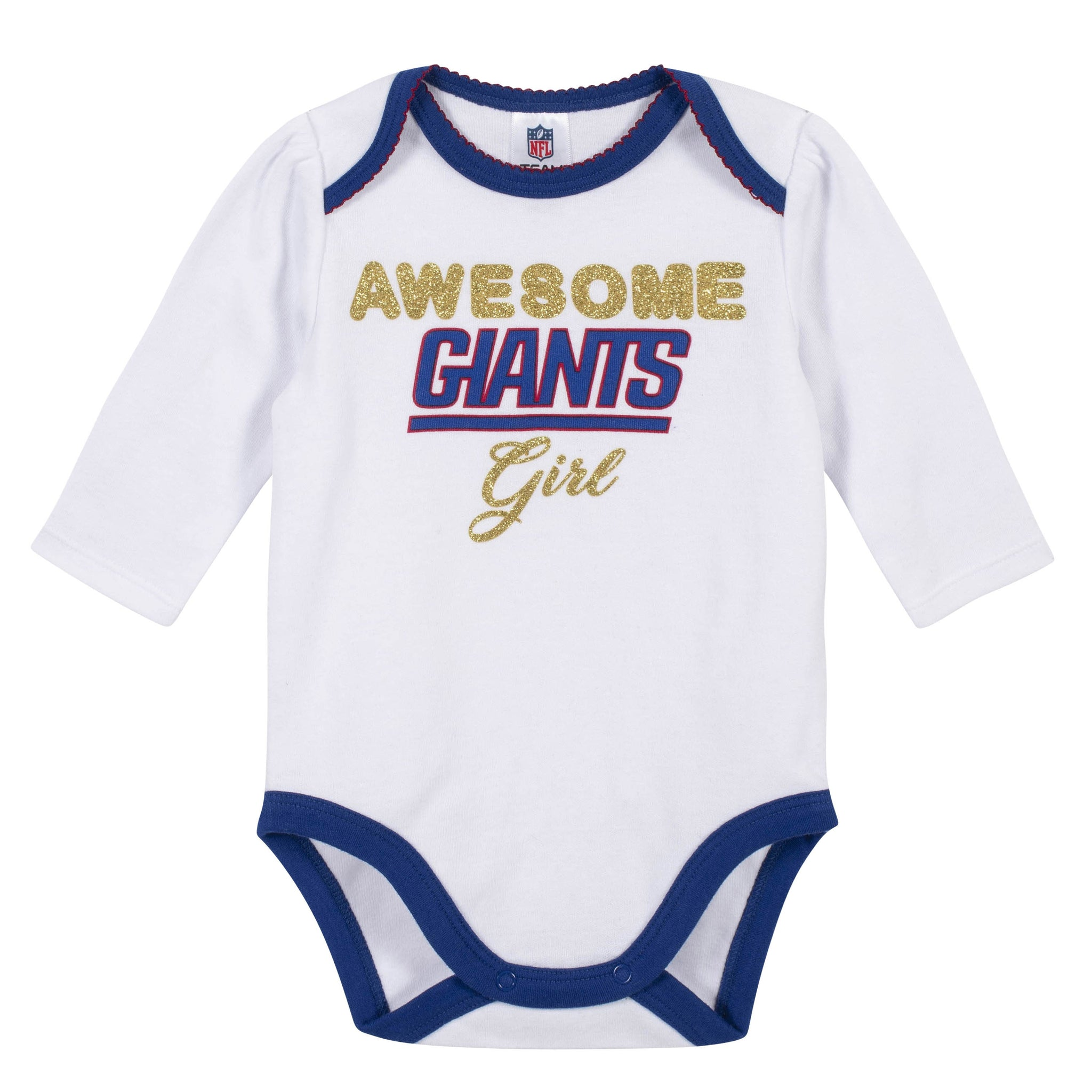 Baby Girls New York Giants 3-Piece Bodysuit, Pant, and Cap Set