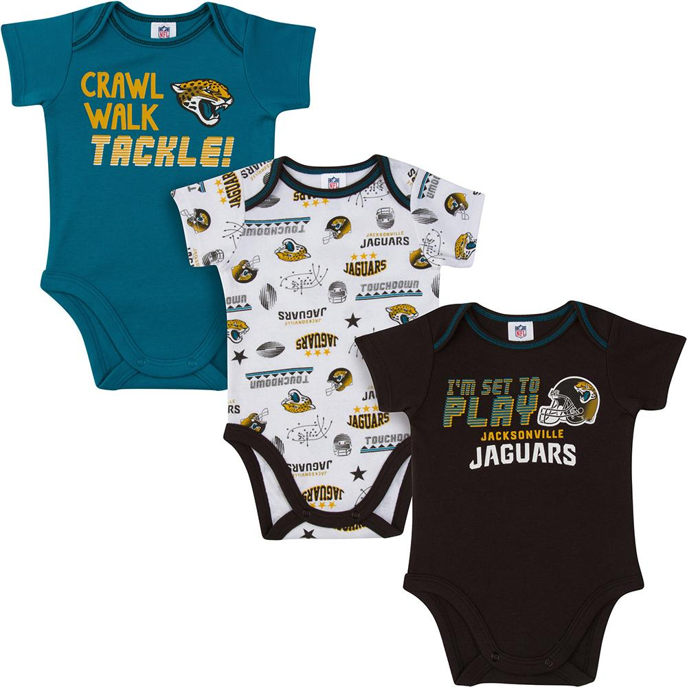 Jaguars Baby Boys 3-Pack Short Sleeve Bodysuit