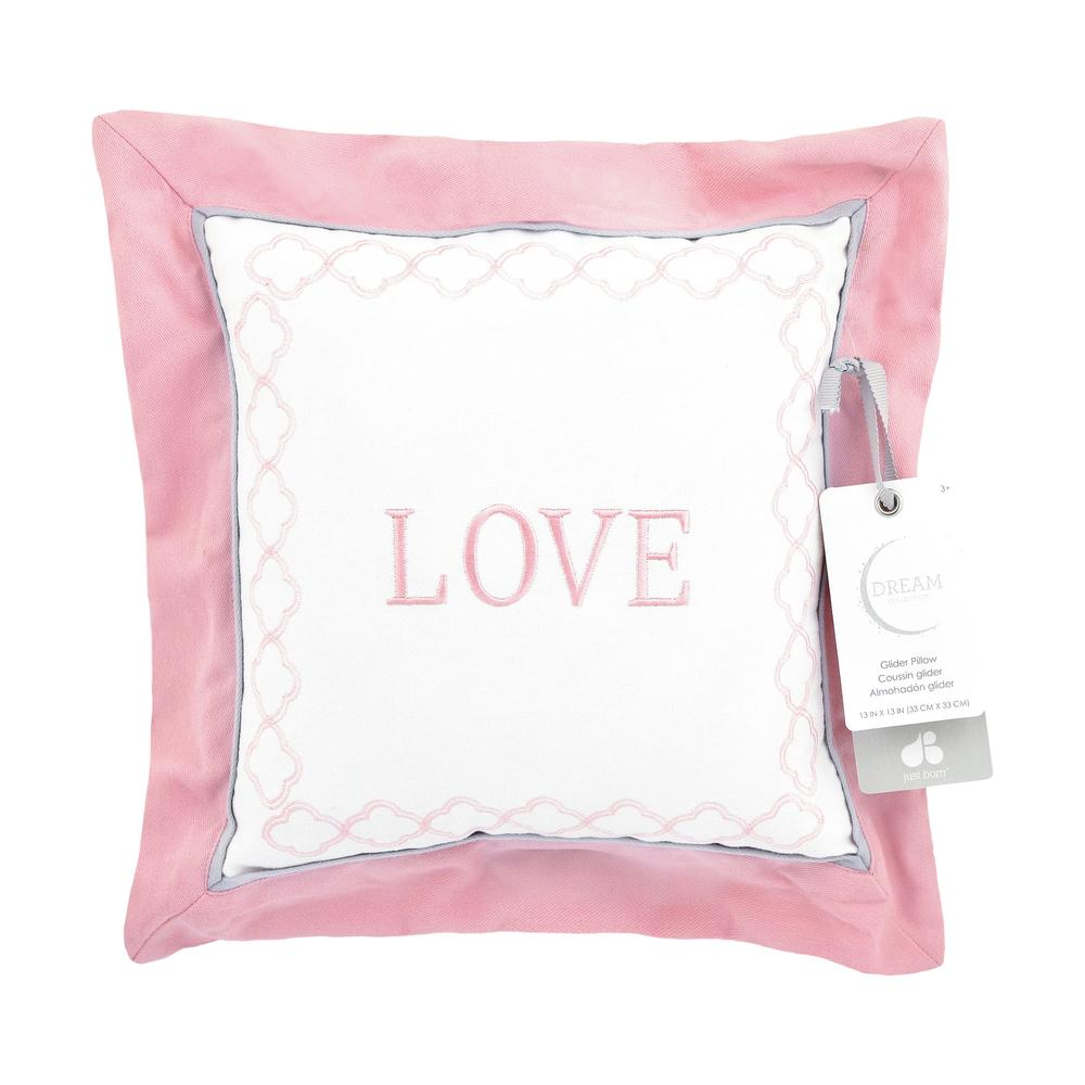 "Just Born Dream ""Love"" Throw Pillow, Pink-Gerber Childrenswear"