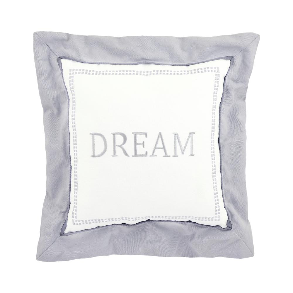 "Dream ""Dream"" Throw Pillow, Gray-Gerber Childrenswear"