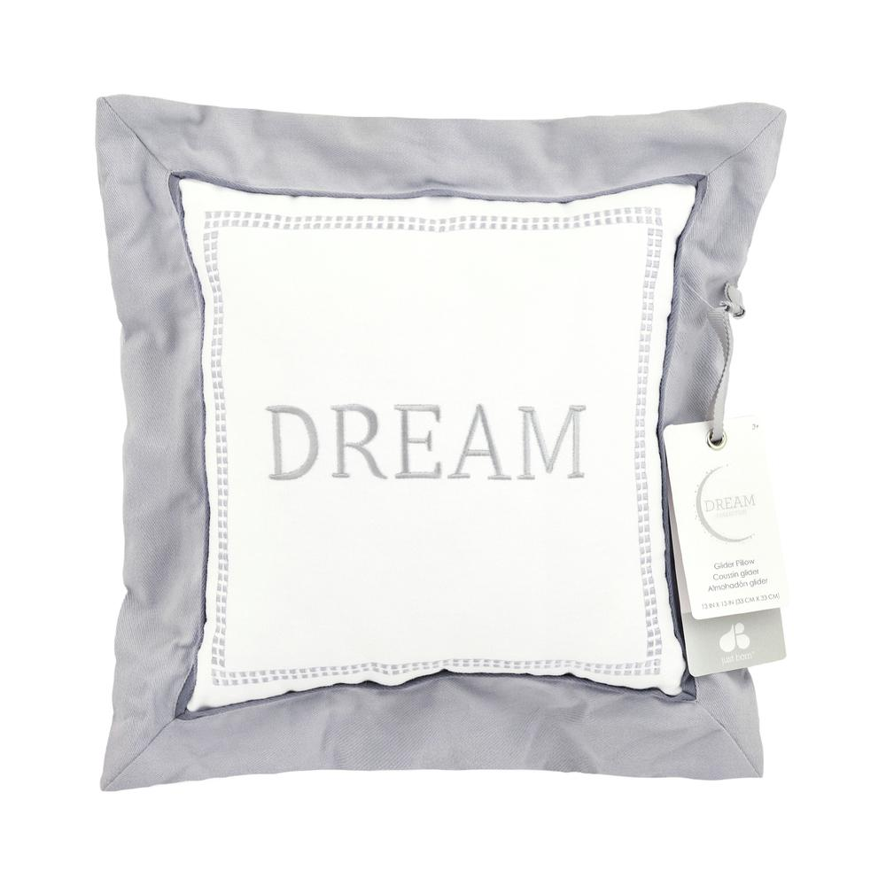 "Just Born Dream ""Dream"" Throw Pillow, Gray-Gerber Childrenswear"