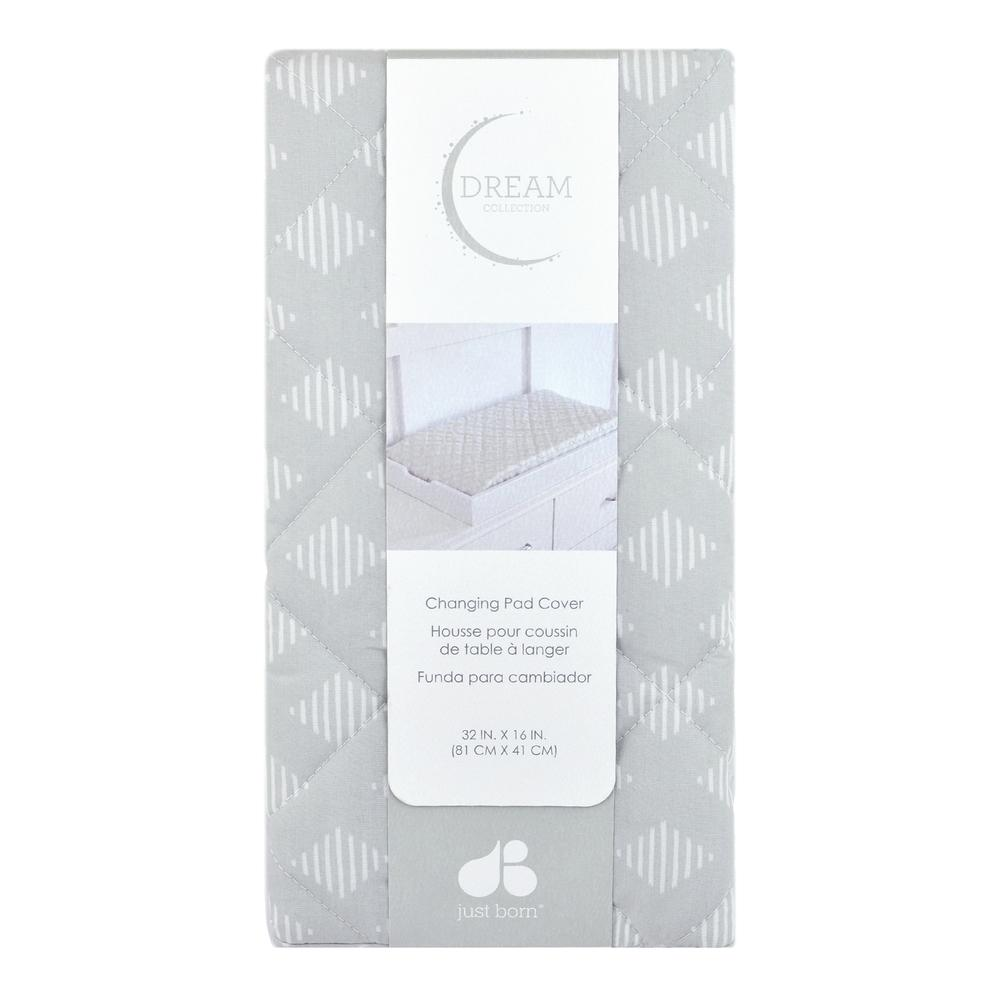 Just Born Dream Changing Pad Cover, Silver Gray-Gerber Childrenswear